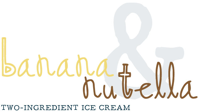 Two Ingredient Banana Nutella Ice Cream Recipe