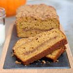 Cinnamon Swirl Streusel Pumpkin Bread Recipe
