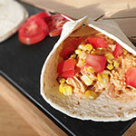 Slow Cooker Nacho Chicken, Pinto Beans and Rice Wraps Recipe